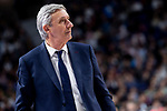 Coach Svetislav Pesic of FC Barcelona Lassa during Turkish Airlines Euroleague match between Real Madrid and FC Barcelona Lassa at Wizink Center in Madrid, Spain. December 13, 2018. (ALTERPHOTOS/Borja B.Hojas)