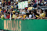 9th November 2019; Bankwest Stadium, Parramatta, New South Wales, Australia; International Womens Friendly Football, Australia versus Chile; Matildas fans at the end of the game - Editorial Use