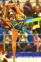 BARRANQUILLA - COLOMBIA, 30-07-2018:Alejandra Acosta (ELSAL) ,en  gimnasia rítmica .Juegos Centroamericanos y del Caribe Barranquilla 2018. /Alejandra Acosta (ELSAL)in rhythmic gymnastics of the Central American and Caribbean Sports Games Barranquilla 2018. Photo: VizzorImage /  Alfonso Cervantes /Contribuidor