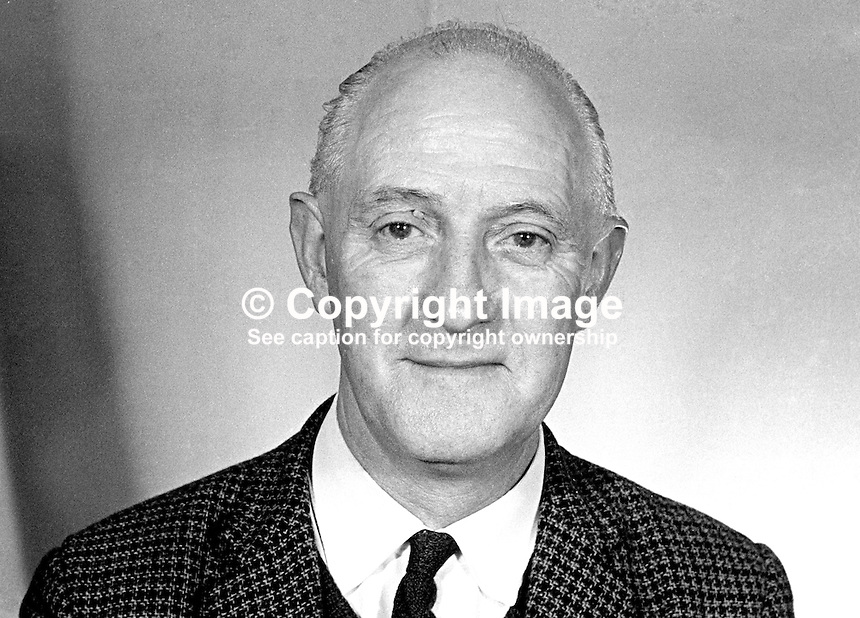 Jack Barkley, candidate, N Ireland Labour Party, NILP, Cromac, Belfast, in general election, N Ireland Parliament, Stormont. February 1969. 196902000052b<br />
