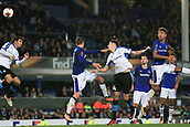 28th September 2017, Goodison Park, Liverpool, England; UEFA Europa League group stage, Everton versus Apollon Limassol; Hector Yuste of Apollon Limassol scores with the header in the 88th minute to make it 2-2