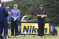 James Sugrue (IRL)(AM) and Shane Lowry (IRL) on the 12th during the preview of the the 148th Open Championship, Portrush golf club, Portrush, Antrim, Northern Ireland. 17/07/2019.<br /> Picture Thos Caffrey / Golffile.ie<br /> <br /> All photo usage must carry mandatory copyright credit (© Golffile | Thos Caffrey)