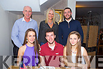 Eddie Murphy from Clogherbrien, Tralee celebrating his 21st. with family at Bella Bia on Saturday Front l-r Ciara Murphy, Eddie Murphy, Charlotte Murphy.  Back l-r Denis Murphy, Tara Murphy, Jack Murphy