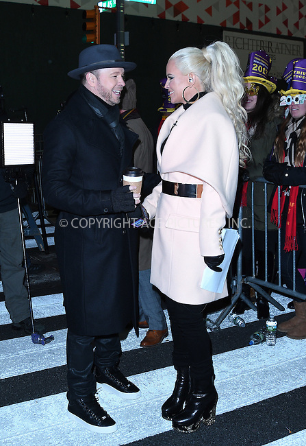 www.acepixs.com<br /> <br /> December 31 2016, New York City<br /> <br /> TV personality Jenny McCarthy and her husband Donnie Wahlberg made an appearance at the New Years Eve celebrations in Times Square on December 31 2016 in New York City<br /> <br /> By Line: Curtis Means/ACE Pictures<br /> <br /> <br /> ACE Pictures Inc<br /> Tel: 6467670430<br /> Email: info@acepixs.com<br /> www.acepixs.com