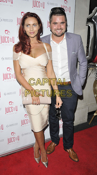 LONDON, ENGLAND - JULY 24: Amy Childs &amp; Billy Childs attend the JuiceToU 1st anniversary &amp; re-branding party, Sanctum Soho Hotel, Warwick St., on Thursday July 24, 2014 in London, England, UK. <br /> CAP/CAN<br /> &copy;Can Nguyen/Capital Pictures