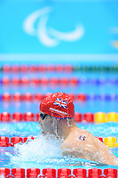 PICTURE BY ALEX BROADWAY /SWPIX.COM - 2012 London Paralympic Games - Day Five - Swimming, Aquatic Centre, Olympic Park, London, England - 03/09/12 - Sascha Kindred of Great Britain competes in the Men's 200m Individual Medley SM6 Final.