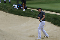 Jordan Spieth (USA) chips from a bunker at the 2nd green during Sunday's Final Round of the WGC Bridgestone Invitational 2017 held at Firestone Country Club, Akron, USA. 6th August 2017.<br /> Picture: Eoin Clarke | Golffile<br /> <br /> <br /> All photos usage must carry mandatory copyright credit (&copy; Golffile | Eoin Clarke)