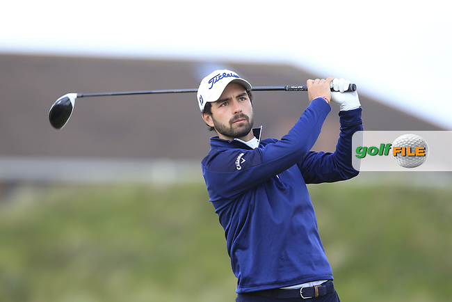 Sergio Parriego Cornejo (ESP) on the 5th tee during Round 1 of the The Amateur Championship 2019 at The Island Golf Club, Co. Dublin on Monday 17th June 2019.<br /> Picture:  Thos Caffrey / Golffile<br /> <br /> All photo usage must carry mandatory copyright credit (© Golffile | Thos Caffrey)