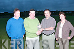 Paddy Keane winner of third prize in the Duagh Golf Classic at Ballybunion on April twentieth was presented with his prize at Duagh GAA Clubbon Monday  night pictured from l-r are Larry O'Connor, Paddy Keane, Martin Leane (club chairman) and Mary Ahern (club secretary).   Copyright Kerry's Eye 2008