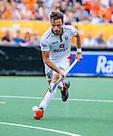 Den Bosch  -  Sébastien Dockier (Belgie)   tijdens   de Pro League hockeywedstrijd heren, Nederland-Belgie (4-3).    COPYRIGHT KOEN SUYK