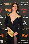 Ruth Gabriel attends 30th Goya Awards red carpet in Madrid, Spain. February 06, 2016. (ALTERPHOTOS/Victor Blanco)