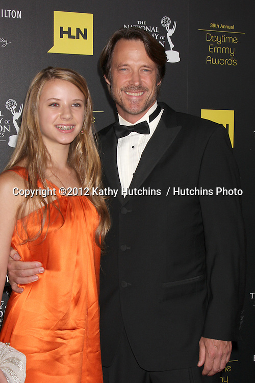 LOS ANGELES - JUN 23:  Matthew Ashford, daughter arrives at the 2012 Daytime Emmy Awards at Beverly Hilton Hotel on June 23, 2012 in Beverly Hills, CA