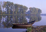 Europe, DEU, Germany, North Rhine Westphalia, Lower Rhine, Xanten, Nature reserve Bislicher Insel, Old fishing boat, Autumn....[ For each utilisation of my images my General Terms and Conditions are mandatory. Usage only against use message and proof. Download of my General Terms and Conditions under http://www.image-box.com or ask for sending. A clearance before usage is necessary...Material is subject to royalties. Each utilisation of my images is subject to a fee in accordance to the present valid MFM-List...Contact | archive@image-box.com | www.image-box.com ]