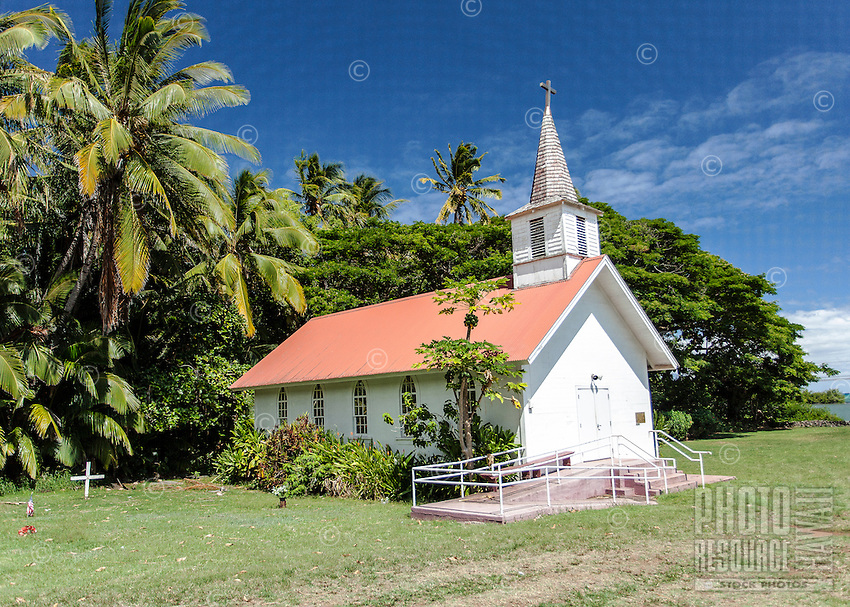 Our Lady of Sorrows Church, built by Father Damien in 1874, on Moloka'i