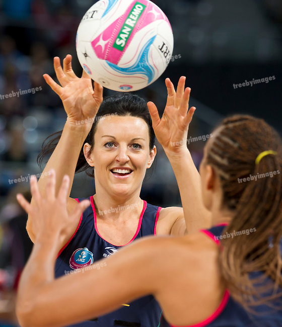 26/04/2015<br /> ANZ Championship 2015<br /> Round 9 Vixens v Tactix at Hisense Arena<br /> <br /> Bianca Chatfield <br /> <br /> Photo: Grant Treeby