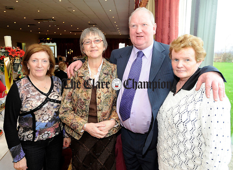 Celia Moloney, Pauline Naughton, Joan and Patrick O'Halloran at the Clare Branch of the National Council for the Blind dinner at the Clare Inn.Pic Arthur Ellis.