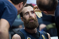 Fenerbahce Dogus Luigi Datome injured during Turkish Airlines Euroleague match between Real Madrid and Fenerbahce Dogus at Wizink Center in Madrid , Spain. March 02, 2018. (ALTERPHOTOS/Borja B.Hojas) /NortePhoto.com NORTEPHOTOMEXICO