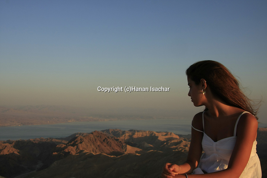 Israel, Eilat, Noi Isachar on Mount Yoash