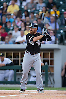 Adam LaRoche (25) of the Chicago White Sox at bat against the Charlotte Knights at BB&T Ballpark on April 3, 2015 in Charlotte, North Carolina.  The Knights defeated the White Sox 10-2.  (Brian Westerholt/Four Seam Images)