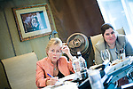 California Governor Arnold Schwarzenegger's Chief of Staff Susan Kennedy holds a meeting with advisors to discuss the state's budget crisis in Schwarzenegger's smoking tent at the State Capitol in Sacramento, Calif., June 18, 2009. CREDIT: Max Whittaker for The Wall Street Journal.KENNEDY