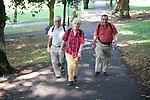 Older People walking in the park, Nottingham. MR