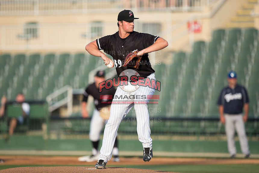Kannapolis Intimidators starting pitcher Chris Comito (39) in action against the Asheville Tourists at Kannapolis Intimidators Stadium on May 27, 2016 in Kannapolis, North Carolina.  The Tourists defeated the Intimidators 7-6.  (Brian Westerholt/Four Seam Images)