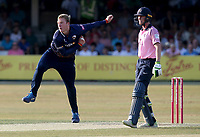 Simon Harmer in bowling action for Essex during Essex Eagles vs Middlesex, Vitality Blast T20 Cricket at The Cloudfm County Ground on 6th July 2018