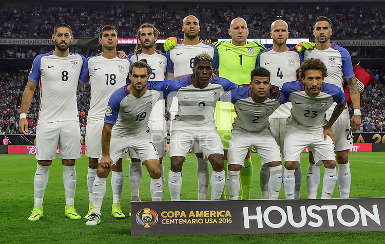 Houston, TX - June 21, 2016: The U.S. Men's National team take on Argentina in Semifinal play at the 2016 Copa America Centenario at NRG Stadium.