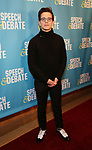 Austin P. McKenzie attends Broadway Red Carpet Premiere of 'Speech & Debate'  at the American Airlines Theatre on April 2, 2017 in New York City.