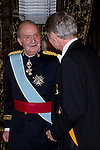 09.10.2012. King Juan Carlos I of Spain attend the reception of credentials of the new Ambassador of Kingdom of Netherland, Cornelis Van Rij, in the Royal Palace in Madrid, Spain. In the image King Juan Carlos and Cornelis Van Rij (Alterphotos/Marta Gonzalez)