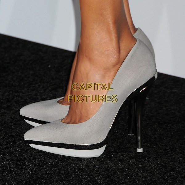 "Halle Berry's shoes.""Cloud Atlas"" Los Angeles Premiere held at Grauman's Chinese Theatre, Hollywood, California, USA..October 24th, 2012.grey gray feet heels detail black.CAP/ADM/BP.©Byron Purvis/AdMedia/Capital Pictures."