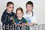 HANDBALL: Playing in the County Juvenile Handball Championships on Sunday morning at Tralee Sports & Leisure Centre were, l-r: Breandan Caball (Tralee), Katie Ni Mhuircheartaigh and Sean O Se (An Ghaeltacht).