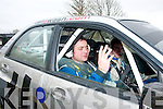 Thomas Fitzmaurice(Abbeydorney)in his newly acquired Subaru WRC S10 with Tralee's Fionn Foley navigating last Sunday at the Galway International Rally..