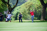 Jon Rahm (ESP) hits his approach shot on 6 during round 6 of the World Golf Championships, Dell Technologies Match Play, Austin Country Club, Austin, Texas, USA. 3/26/2017.<br /> Picture: Golffile | Ken Murray<br /> <br /> <br /> All photo usage must carry mandatory copyright credit (&copy; Golffile | Ken Murray)