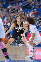 LOS ANGELES, CA - February 17, 2013:  Stanford's Sara James during Stanford's game against UCLA at Pauley Pavilon.  Stanford won, 68-57.