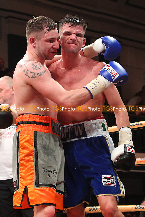 Martin Joseph Ward (blue shorts) draws with Maxi Hughes in a Super-Featherweight boxing context, promoted by Matchroom Sports - 06/12/14 - MANDATORY CREDIT: Gavin Ellis/TGSPHOTO - Self billing applies where appropriate - contact@tgsphoto.co.uk - NO UNPAID USE