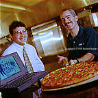 Mike Adelberg And Peter Cooperstein, Amili's East Coast Pizzeria-World Wide Waiter, editorial, portrait