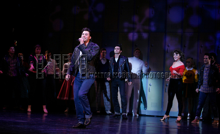 American Idol Heartthrob Ace Young makes his Broadway Debut in the Broadway Revival of GREASE at the Brooks Atkinson Theatre in New York City.<br />September 11, 2008