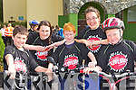 Ronan Walsh Navan, Aoife Brosnan Ballymac, Ethan Hennessy Limerick, Niamh Hannafin Tralee and Jack Walsh Tralee who cycled in the Donal Walsh Live Life cycle in Killarney on Saturday morning