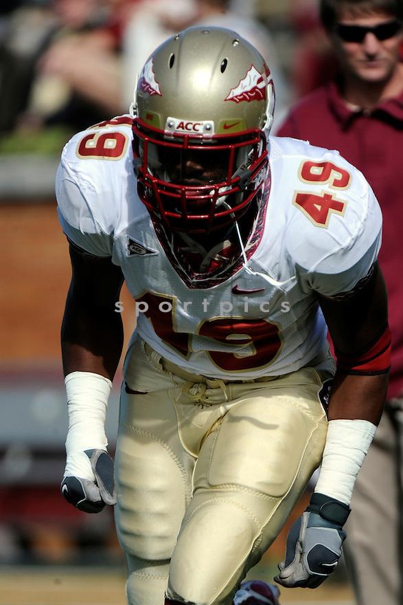 Florida State DL Brandon Jenkins (49). Mandatory Credit: Tomasso DeRosa