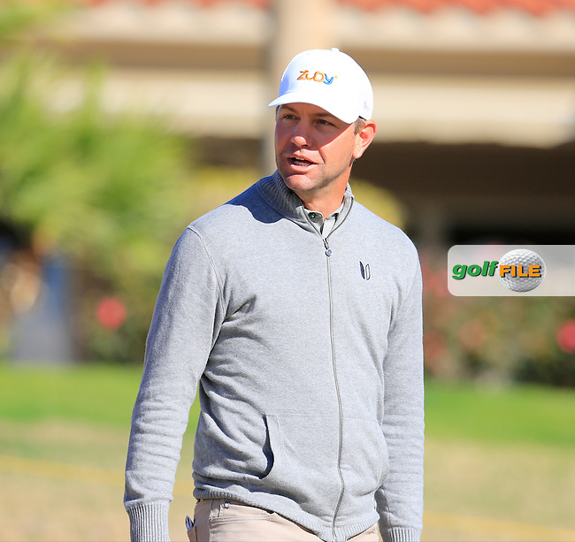 Lucas Glover (USA) on the 2nd tee during Saturday's Round 3 of the 2017 CareerBuilder Challenge held at PGA West, La Quinta, Palm Springs, California, USA.<br /> 21st January 2017.<br /> Picture: Eoin Clarke | Golffile<br /> <br /> <br /> All photos usage must carry mandatory copyright credit (&copy; Golffile | Eoin Clarke)