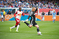 BRONX, NY - Saturday May 21, 2016: New York City FC takes on rivals the New York Red Bulls at home at Yankee Stadium in regular season MLS play.