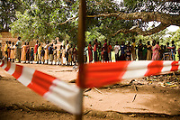 Measles immunization carried out by MSF medical team in Naandi, South Sudan. there are many refugees and internally displaced in this small market town..