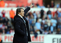Pictured: Manchester City manager Roberto Mancini. Saturday 04 May 2013<br /> Re: Barclay's Premier League, Swansea City FC v Manchester City at the Liberty Stadium, south Wales.