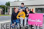 Ronan Foley with his teacher parents Tony and Caroline and brother Gavin at the launch of the #RONANSOPNOW campaign launch in St Olivers NS Killarney on Wednesday