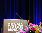 On stage during the 2018 Drama League Awards at the Marriot Marquis Times Square on May 18, 2018 in New York City.
