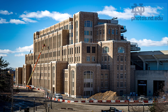 March 3, 2017; Corbett Family Hall under construction (Photo by Matt Cashore/University of Notre Dame)