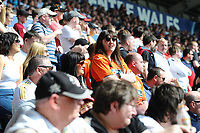 Swansea City fans in action during the Sky Bet Championship match between Swansea City and Rotherham United at the Liberty Stadium in Swansea, Wales, UK.  Friday 19 April 2019