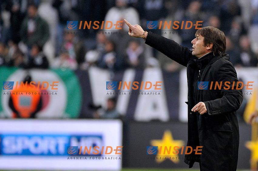 Antonio Conte Juventus.Calcio Juventus vs Sampdoria.Serie A - Torino 06/1/2013 Juventus Stadium .Football Calcio 2012/2013.Foto Federico Tardito Insidefoto