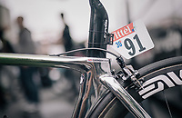 Mark Cavendish's  (GBR/Dimension Data) customised Cerv&eacute;lo S5<br /> <br /> 104th Tour de France 2017<br /> Stage 1 (ITT) - D&uuml;sseldorf &rsaquo; D&uuml;sseldorf (14km)